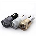 2.1a 1.0a alluminio 2 porte USB caricatore universale dell'automobile del usb per il telefono 5 6 6 Plus per iPad 2 3 4 5 per