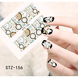 1pcs  Water Transfer Nail Art Stickers Clock Beautiful Snowman Flower Nail Art Design STZ156-160