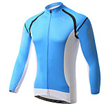 XINTOWN Mens Pro Team Style Long Sleeve Cycling Jersey