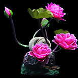 Simulation Harz Lotus Ornament Dekoration für Aquarium