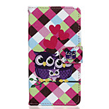 Owls Pattern PU Leather Full Body Case with Stand for Wiko Rainbow Jam 4G
