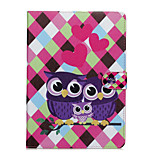 Owls Patter PU Leather Full Body Case with Stand for iPad Air3