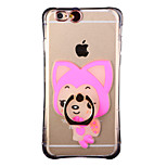 Glow in the Dark Raccoon Dog Pattern with Hand Ring and Strap PC Back Case for iphone6/6s
