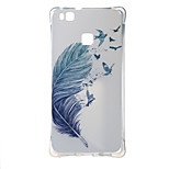 Blue feather Shockproof as TPU soft shell cover Case for Huawei Ascend P9 lite P9 mini