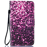 Purple Petals Pattern PU Leather Full Body Case with Stand for BQ M 5.0