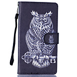 Owl Pattern PU Leather Full Body Case with Stand for LG LS770
