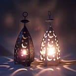 Valentine'S Day Creative Storm Lantern Crafts And Gifts Furnishing Articles Star Moon Wrought Iron Candlestick