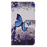 papillon bleu peint pu cas de téléphone pour huawei p8 Lite / p8