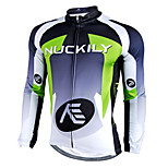 NUCKILY Autumn And Winter Cycling Team Jersey Long-sleeved T-shirt Men Windproof Fleece Sportswear