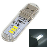 mlsled® usb 2.0 1W 60lm 3x5730 branco levou luz usb lâmpada w / interruptor de toque