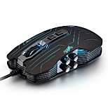 LUOM G5 3200DPI LED Optical 9D USB Vibration Wired Illuminated Gaming Mouse Novelty Mice