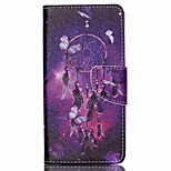 Cross Textured Leather Protective Stand Phone Case with Card Slot for Acer Liquid Z520 - Dream Catcher