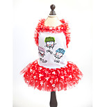 Dress for Dogs / Cats Red / Yellow Summer / Spring/Fall Fashion XS / S / M / L / XL Cotton-Lovoyager