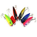 1 pcs Corchete Corchete Amarillo / Colores Aleatorios 2.7 g Onza mm pulgada,Plástico duro Pesca de baitcasting