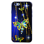 Saphir Schmetterling imd gedruckt TPU weiche rückseitige Abdeckung für iphone 6 / 6S (verschiedene Farben)