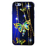 safira borboleta IMD TPU impressa tampa traseira macia para o iPhone 6 / 6s (cores sortidas)
