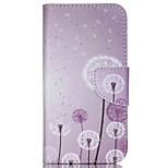 Cross Pattern Leather Stand Case with Card Slots for Wiko Rainbow Up - Dandelion Pattern