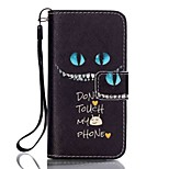 Do Not Touch My Phone Magnetic Leather Stand Full Body Case with Lanyard for iPhone SE / 5 / 5S