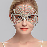 Women's Rhinestone Headpiece-Wedding / Special Occasion / Casual / Office & Career / Outdoor Masks 1 Piece Clear Round