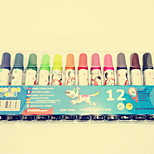 5PCS 12 Colores Children Painting Graffiti The Large Capacity Non-Toxic Colored Pens(Style random)