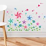 Creative Cartoon Windmill Flowers Wall Stickers