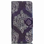 Cross Textured Leather Magnetic Stand Phone Case with Card Slot for Acer Liquid Z520 - Retro Flowers