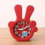 Creative Plastic  Mini finger  Desktop Needle Quartz Alarm Clock (Random Color)