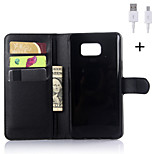 PU Leather Flip Wallet Case with USB Cable for Samsung Galaxy Note 3/Note 4/Note 5 (Assorted Colors)