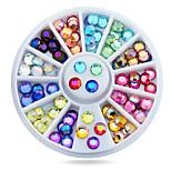 1wheel Colorful Rhinestones Flatback 3d Nail Art Decorations