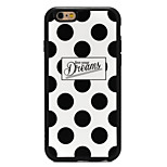 Black and White Dots Silicone Edge Back Case for iPhone 6/6S