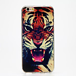 Tiger Growling Pattern IMD TPU Soft Back Case Cover for iPhone 6/6s