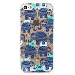 Fashion Cool Elephants Painted Pattern Hard Plastic Back Cove For iPhone5S/iphoneSE 4.0