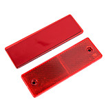 2 Pcs  Plastic Reflector Reflective Warning Plate Stickers for Car Truck Safety