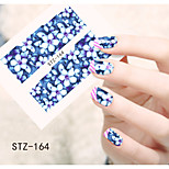 1pcs  Water Transfer Nail Art Stickers  Beautiful Snowman Flower Nail Art Design STZ161-165