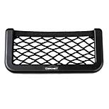 Car Storage Net Bag Phone Holder Pocket Organizer Black 17X8Cm