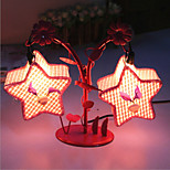 Creative Two Pentagram Lamp Bedroom Bedside Lamp Lighting Lamps of European Romantic Personality Gift(Random Color)