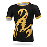 XINTOWN Men Sports Cycling Jersey Bike Breathable T-shirt Yellow Scorpion