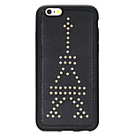 Rivet Leather Series Tower Pattern Golden Round-Dots Soft TPU Case for iPhone6/6S