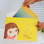 Candy Girl Pattern Paper File(1 PCS Random Color)