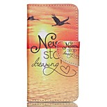 Cross Pattern Leather Phone Case for Acer Liquid Z330 Z320 M320 M330 - Never Stop Dreaming