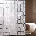 Big Box Waterproof PEVA Shower Curtain Green Ply Toilet Bathroom