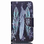 Cross Pattern Leather Wallet Stand Case for Wiko Lenny2 - Colorized Feather
