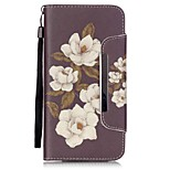EFORCASE® Begonia Flowers Painted Lanyard PU Phone Case for iphone6S plus/6plus/6S/6