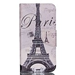 Cross Textured Leather Wallet Case Cover for Acer Liquid Z530 Z530S - Paris Eiffel Tower