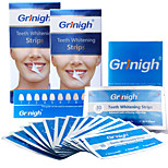 Grinigh® Teeth whitening Strips Includes NATURAL Ingredients and ZERO Peroxide for a White Smile - 28 Treatment