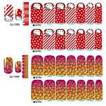 1-Bouts pour moitiés d'ongles / Bouts  pour ongles entiers / Autre décorations / Bijoux pour ongles-Doigt- enBande dessinée / Abstrait /