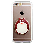Glow in the Dark Small Clumsy Bear PC Back Case with Strap and Stand for iphone6plus/6splus