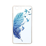 Blue feather New Soft TPU Back Case Cover For DOOGEE X5 Mobile phone bags Cases