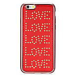 motif de l'amour de la série en cuir rivet placage rouge d'or ronds-points de cas tpu souple pour iPhone6 ​​/ 6s