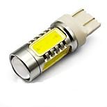 2PCS 12V T20 E0W COB LED Car LED Brake Lamp, Car Tail Lamp with Super Bright White Color